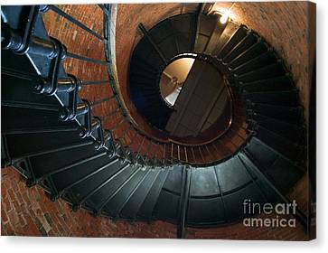 Highland Lighthouse Stairs Cape Cod Canvas Print by Matt Suess