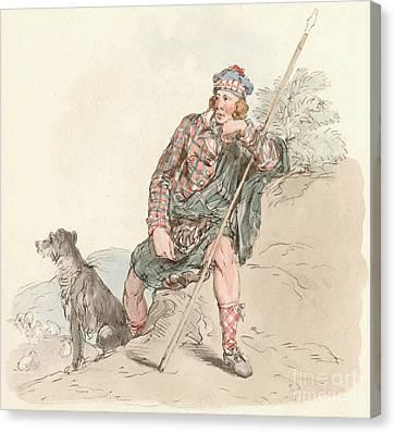 Cap Canvas Print - Highland Shepherd by English School