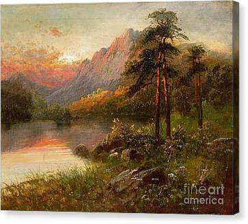 1933 Canvas Print - Highland Solitude by Frank Hider