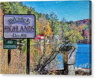 Highlands North Carolina Canvas Print by Janice Rae Pariza