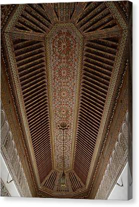 Moroccan Canvas Print - Highly Decorated Roof Of Palais Bahia by Panoramic Images