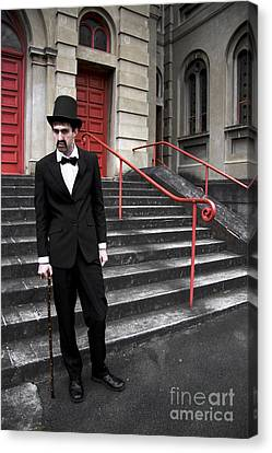 Highly Suspicious Vintage Gent Canvas Print