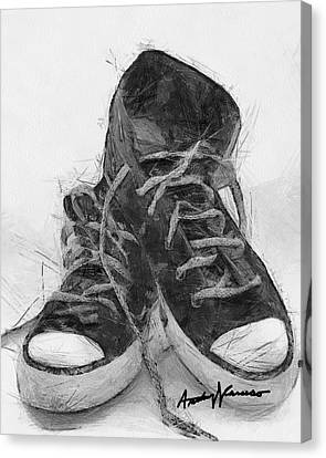 Hightops Canvas Print by Anthony Caruso