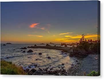Highway 101 California Sunset Canvas Print