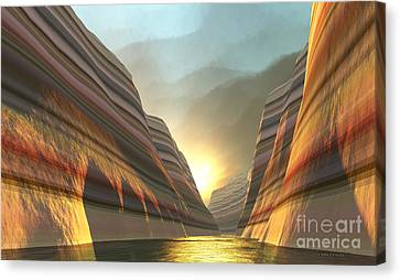 Highway To Heaven Canvas Print by Corey Ford