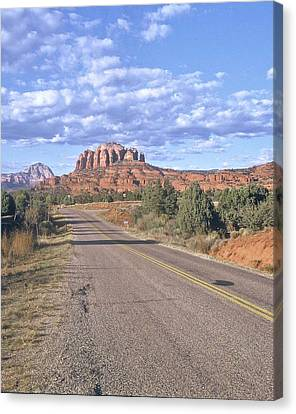 Canvas Print featuring the photograph Highway To Sedona by Gary Wonning