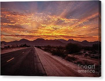 Highway View Canvas Print by Robert Bales