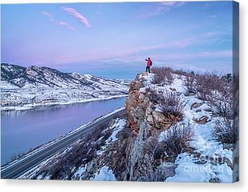 hiking Colorado before sunrise Canvas Print by Marek Uliasz