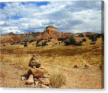 Canvas Print featuring the photograph Hiking Ghost Ranch New Mexico by Kurt Van Wagner