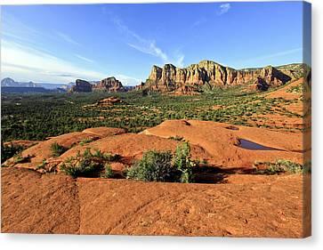 Hiking On Bell Rock Sedona Arizona Canvas Print