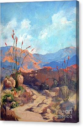 Hiking The Santa Rosa Mountains Canvas Print by Maria Hunt