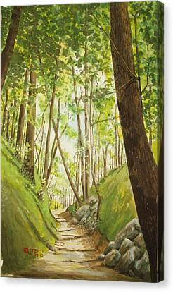 Hiling Path Canvas Print by Charles Hetenyi