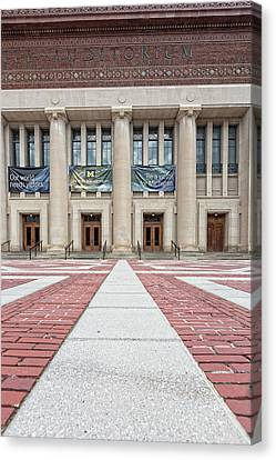 Rights Managed Images Canvas Print - Hill Auditorium U Of M by Cindy Lindow