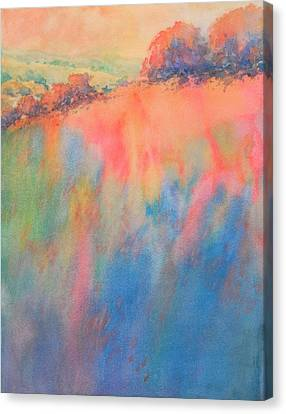Hill Country Abstract No 1 Canvas Print by Virgil Carter