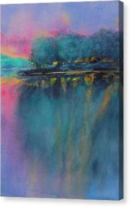 Hill Country Abstract No 5 Canvas Print by Virgil Carter