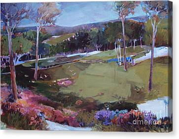 Canvas Print featuring the painting Hill Country by Diane Ursin