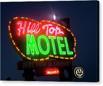 Canvas Print featuring the photograph Hill Top Motel by Matthew Bamberg