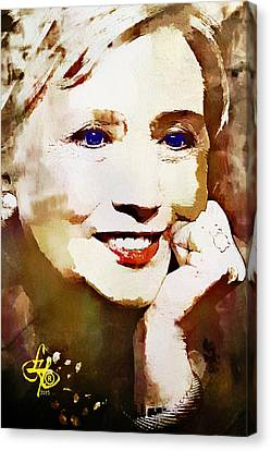 Hillary Clinton Canvas Print by Lynda Payton