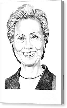 Hillary Clinton Canvas Print by Murphy Elliott