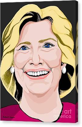 Hillary Clinton Canvas Print by Richard Heyman