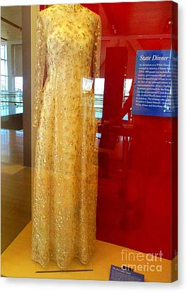 Hillary Clinton State Dinner Gown Canvas Print by Randall Weidner