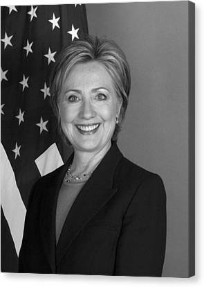 Hillary Clinton Canvas Print by War Is Hell Store