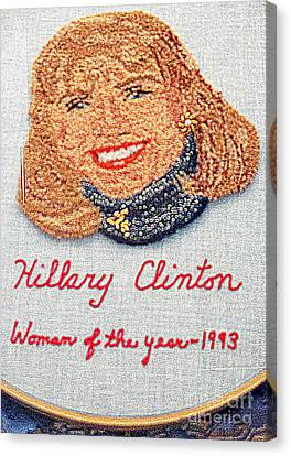 Hillary Clinton Woman Of The Year Canvas Print by Randall Weidner