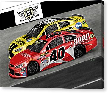 Hillman Racing Sprint Cup Series '15 Canvas Print by Myke  Irving