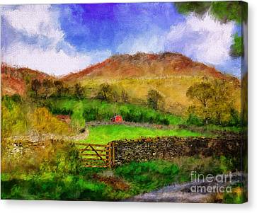 Hills And Dales Canvas Print by Lois Bryan