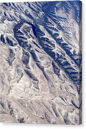 Hills And Valleys Aerial Canvas Print by Carol Groenen