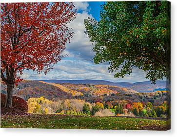 Hills Of Autumn Canvas Print