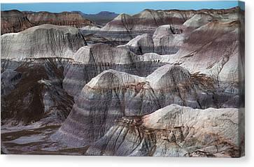 Petrified Forest Arizona Canvas Print - Hills Of Blue Mesa by Joseph Smith