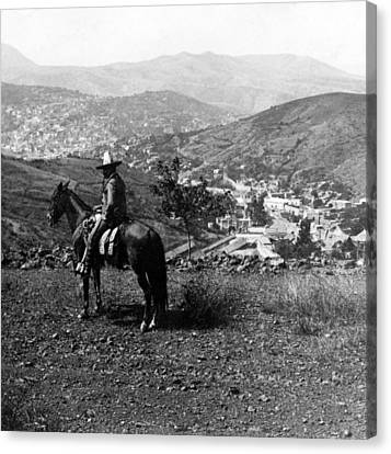 Hills Of Guanajuato - Mexico - C 1911 Canvas Print by International  Images