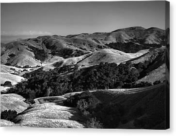 Hills Of San Luis Obispo Canvas Print by Steven Ainsworth