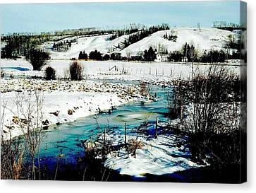Hills Of Tawatinaw Canvas Print by Shirley Sirois
