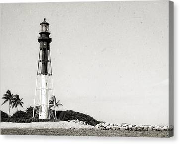 Hillsboro Inlet Lighthouse - 6 Canvas Print by Frank J Benz