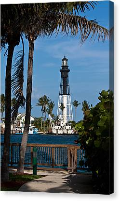 Hillsboro Inlet Lighthouse And Park Canvas Print by Ed Gleichman