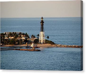 Hillsboro Lighthouse In Florida Canvas Print