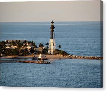 Hillsboro Lighthouse In Florida Canvas Print