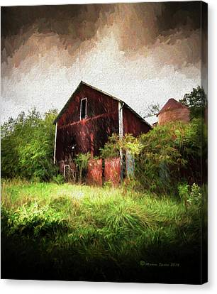 Foliage Canvas Print - Hillside Barn by Marvin Spates