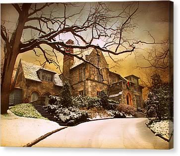 Hillside Home Canvas Print