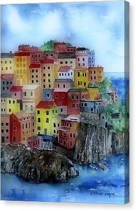 Hillside Homes Canvas Print by Arline Wagner