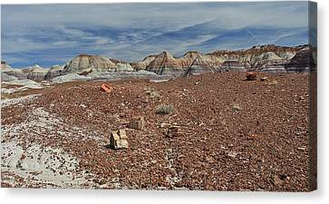 Canvas Print featuring the photograph Hillside Hues by Gary Kaylor