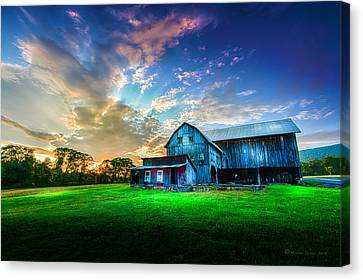 Old Country Roads Canvas Print - Hillside Sunset by Marvin Spates