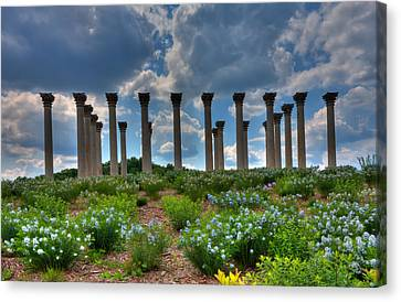 Hilltop Pillars Canvas Print by Kevin Hill