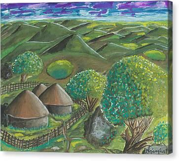 Hilltop View Canvas Print by Ken Nganga