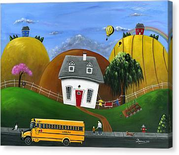 Hilly Homework Canvas Print by Brianna Mulvale