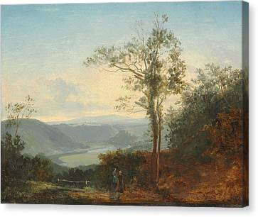 Fearnley Canvas Print - Hilly Landscape With A River In The Valley by Thomas Fearnley
