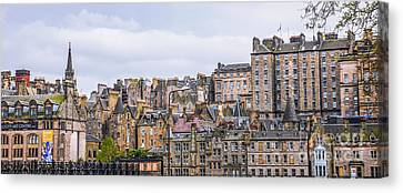 Hilly Skyline Of Edinburgh Canvas Print