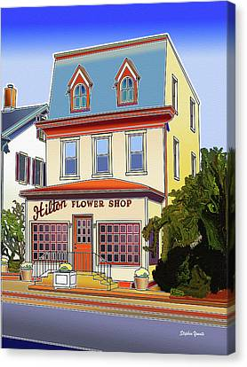 Hilton Flower Shop Canvas Print by Stephen Younts